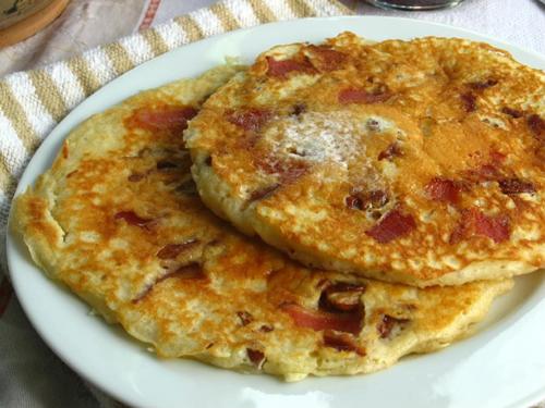 Pecan Maple Bacon Pancakes at Willow Bird Baking