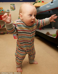 Six-Month-Old Baby Learns to Walk Before Learning to Crawl ...