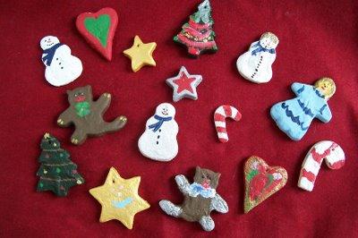 dough art christmas ornaments  Rainforest Islands Ferry
