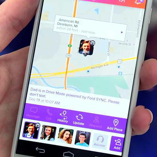 life360 and ford partner to reduce texting and driving life360 life360 the new family circle. Black Bedroom Furniture Sets. Home Design Ideas